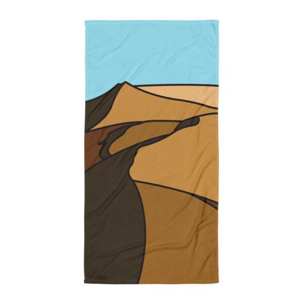 beach towel with a brown desert sand dune design