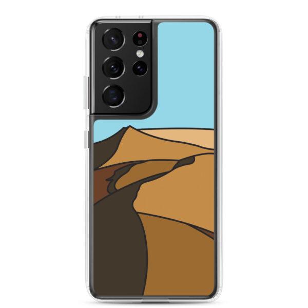 samsung galaxy s21 ultra phone case with a minimalist desert landscape design