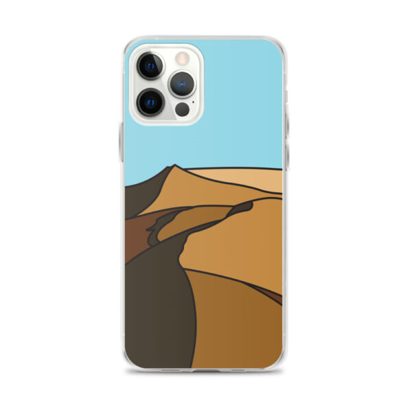 iphone 12 pro max case with a minimalist desert landscape design
