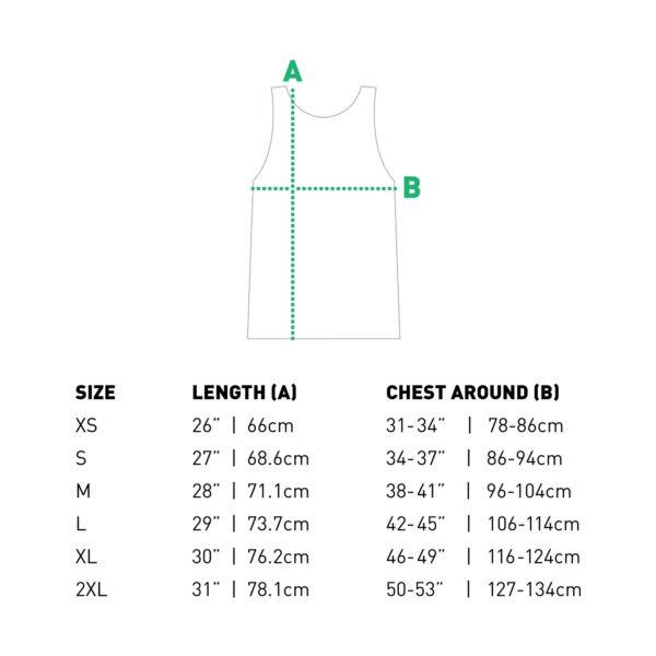 tank top size chart